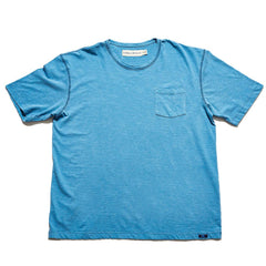 Vintage Slub Short Sleeve Pocket T - Blue