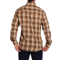 Brushed Buffalo Shirt - Brown/Cream