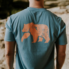 Vintage Bear T - Faded Denim