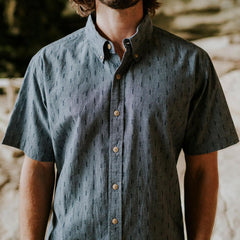 The Dobby Shirt - Atlantic Blue