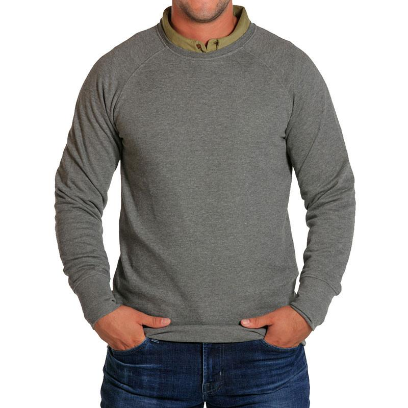Men's Soft Hand Pullover - Grey