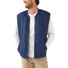 Lincoln Sherpa Lined Vest - Navy