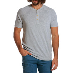 Puremeso Heathered Henley - Light Grey