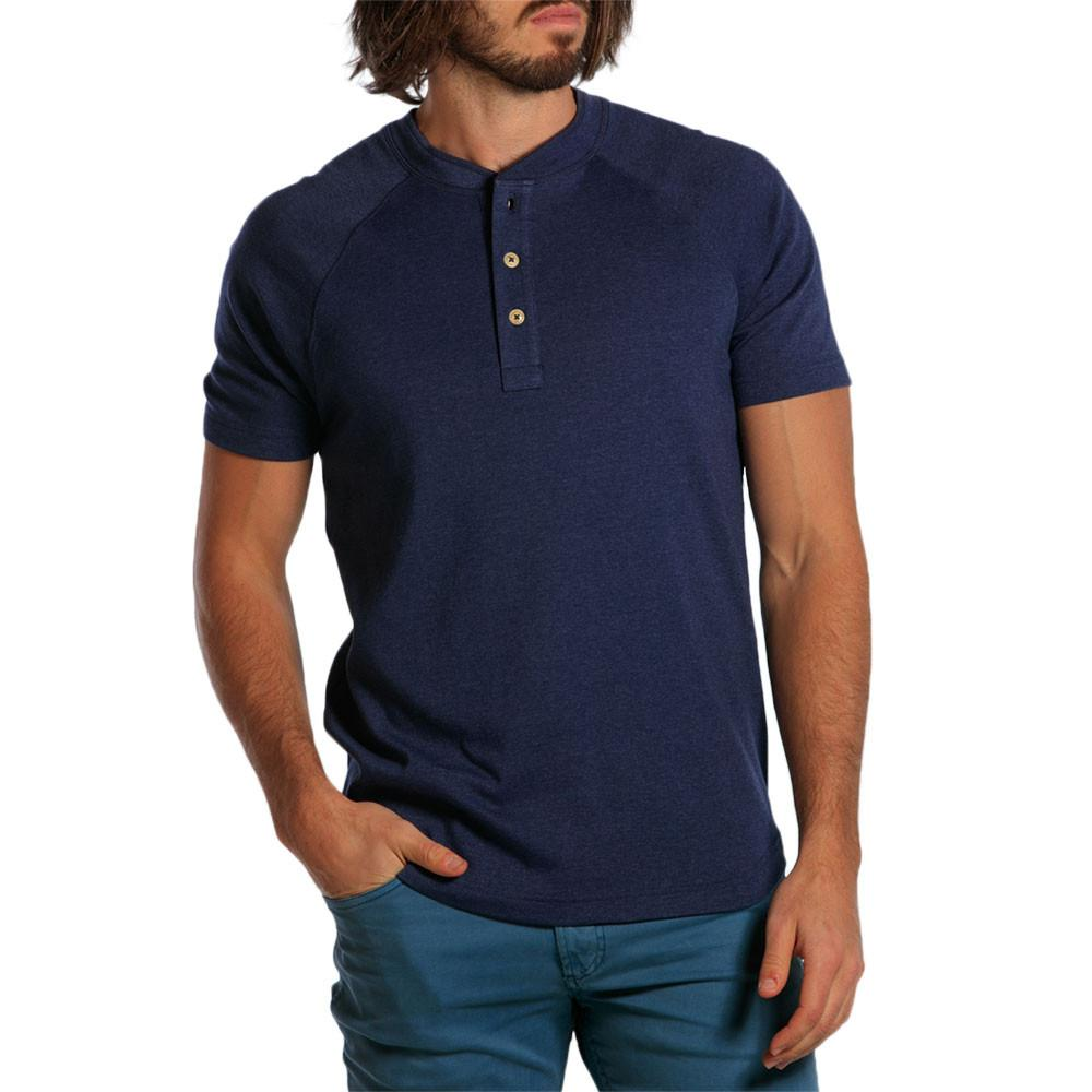 Puremeso Heathered Henley - Navy