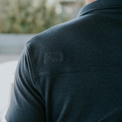 Puremeso Heathered Pocket Polo - Navy