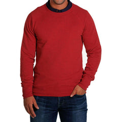 Men's Soft Hand Pullover - Heather Red
