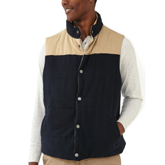 Reversible Vest - Navy Flannel/Dune Shell