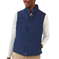 Reversible Vest - Grey Flannel/Navy Shell