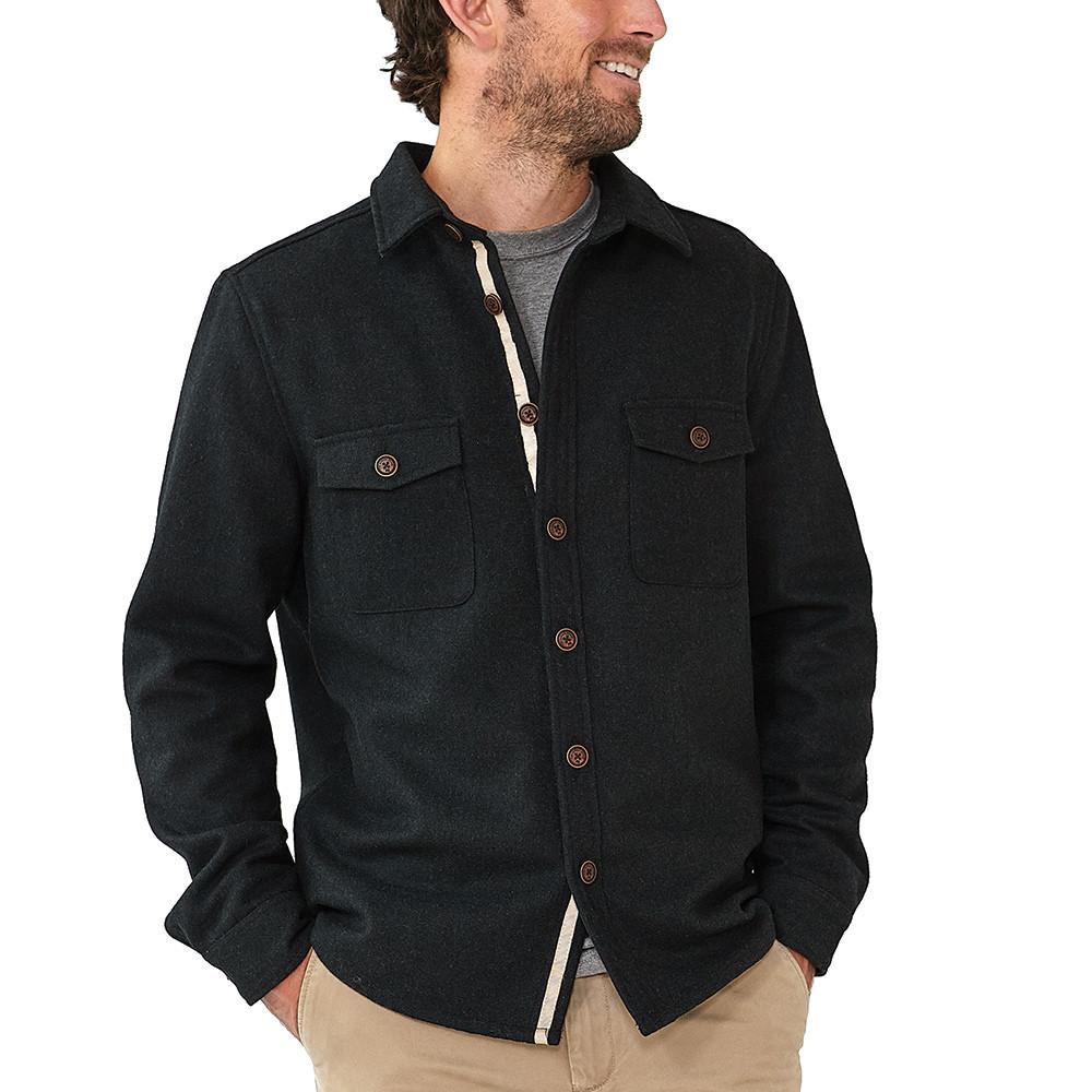 Senior Wool Shirt Jacket - Navy