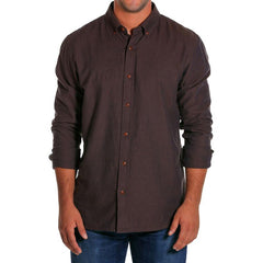 Men's Slim Fit Two-Tone Button Down - Navy/Brown