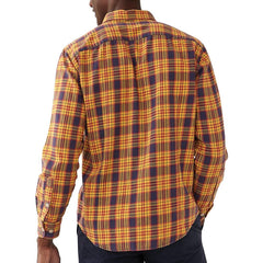 Washed Seasons Plaid Button Down Shirt - Old Gold