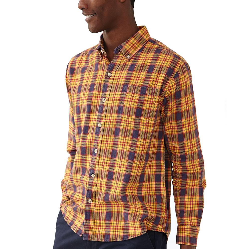 Washed Seasons Plaid - Old Gold/Navy
