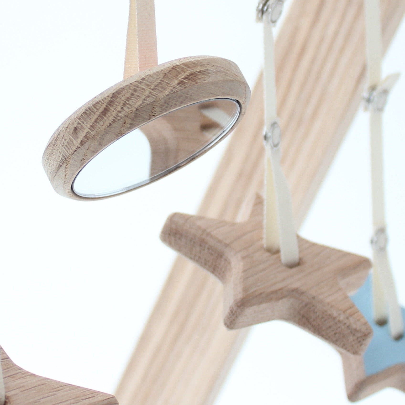 Wooden hanging toys for baby gym