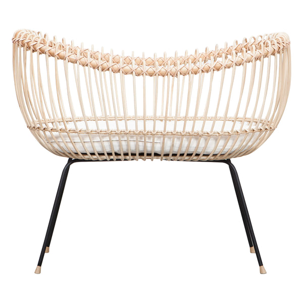 Lola Rattan Crib with Mattress