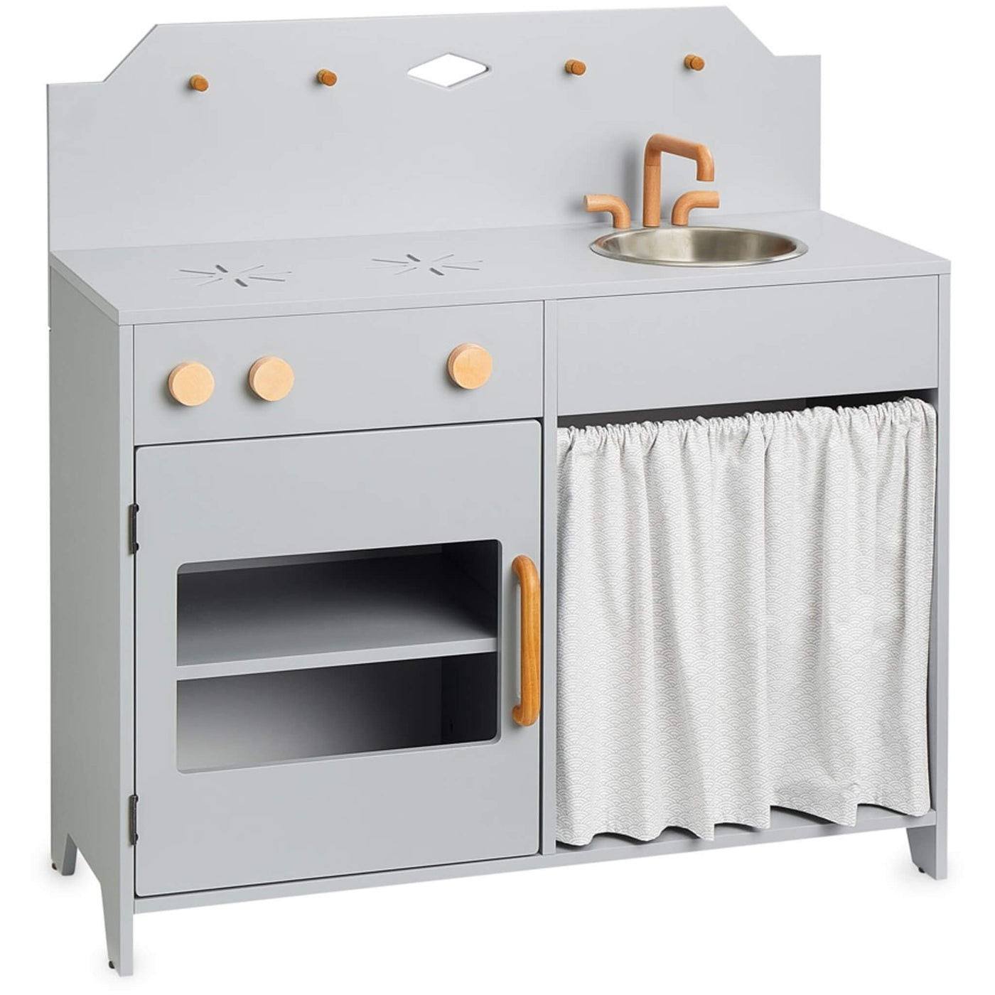 Play Kitchen - Grey / Grey Wave