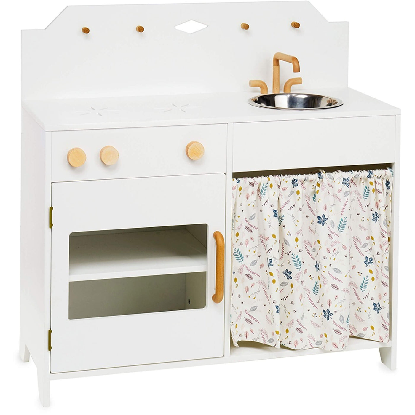 Play Kitchen - White / Pressed Leaves