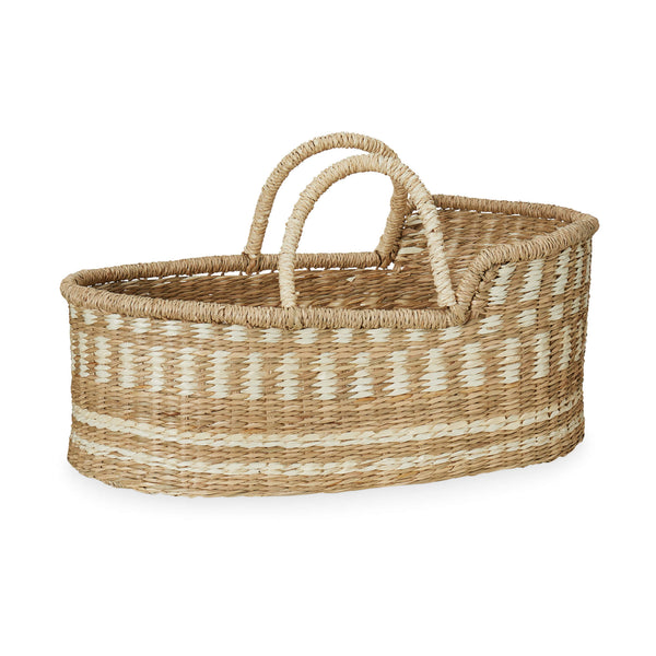 Dolls Moses Basket - Natural