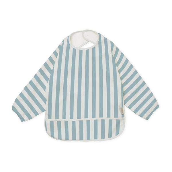Sleeved Bib - Blue & White Stripe