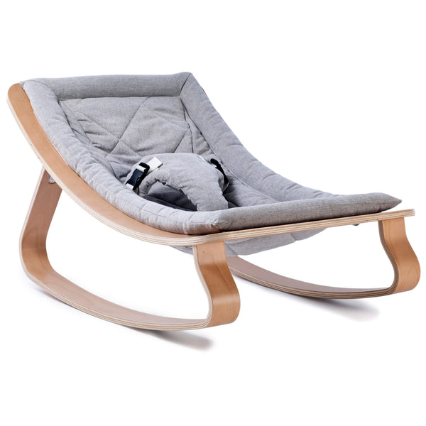 Beech Levo Rocker in Sweet Grey
