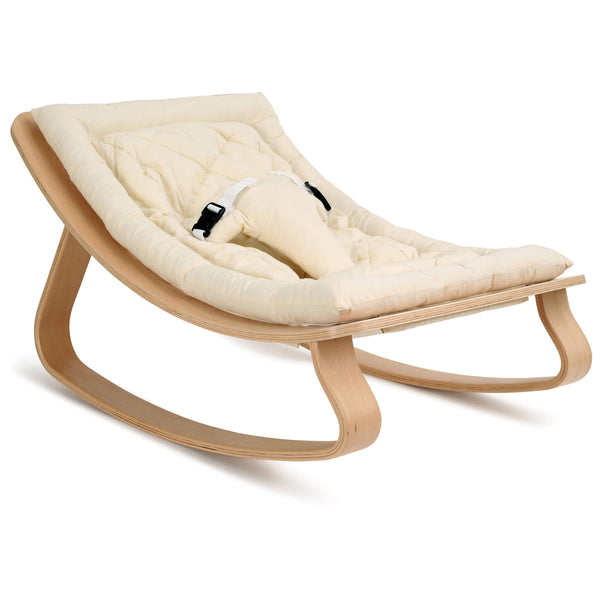 Beech Levo Rocker in Organic White