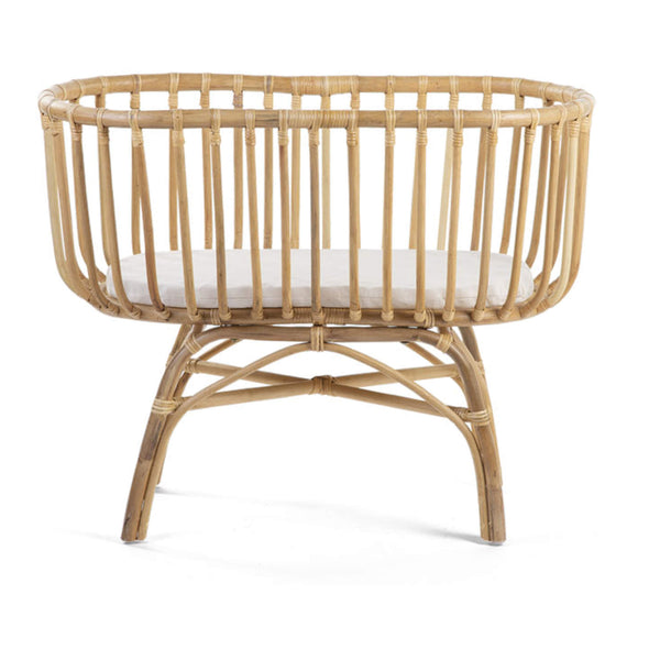 Rattan Cradle with Mattress