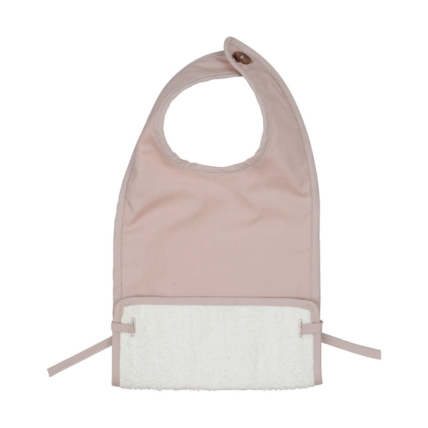 Coated Muslin Feeding Bib - Mauve