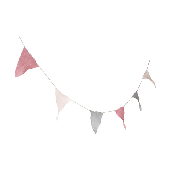 Linen Bunting - Pink
