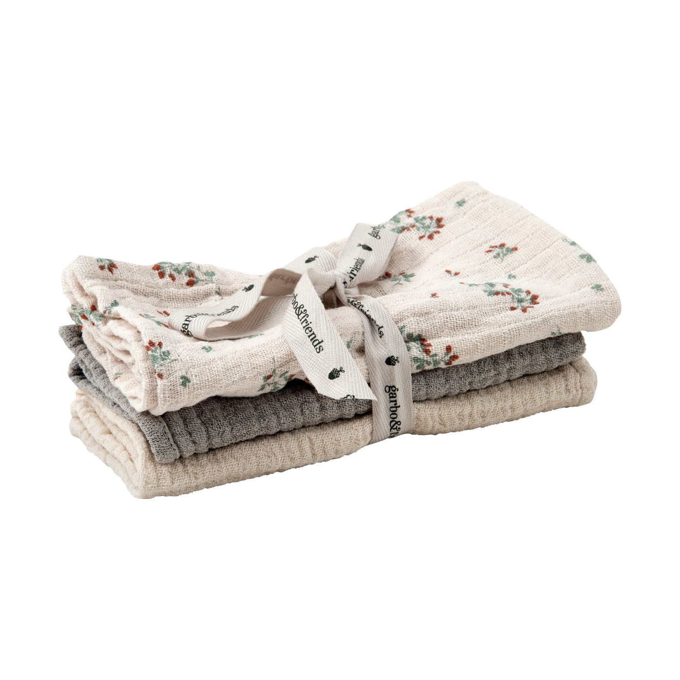 Clover Muslin Cloths - Set of 3