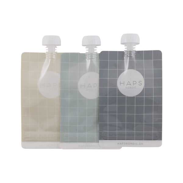 Reusable Food Pouch (3 pack) - Cold Colours