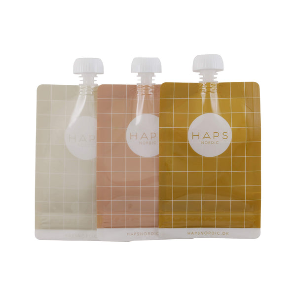 Reusable Food Pouch (3 pack) - Warm Colours