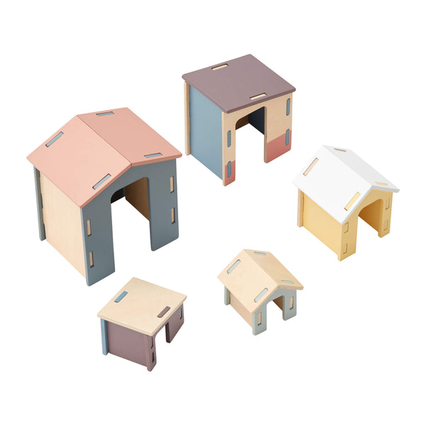 Wooden House Set