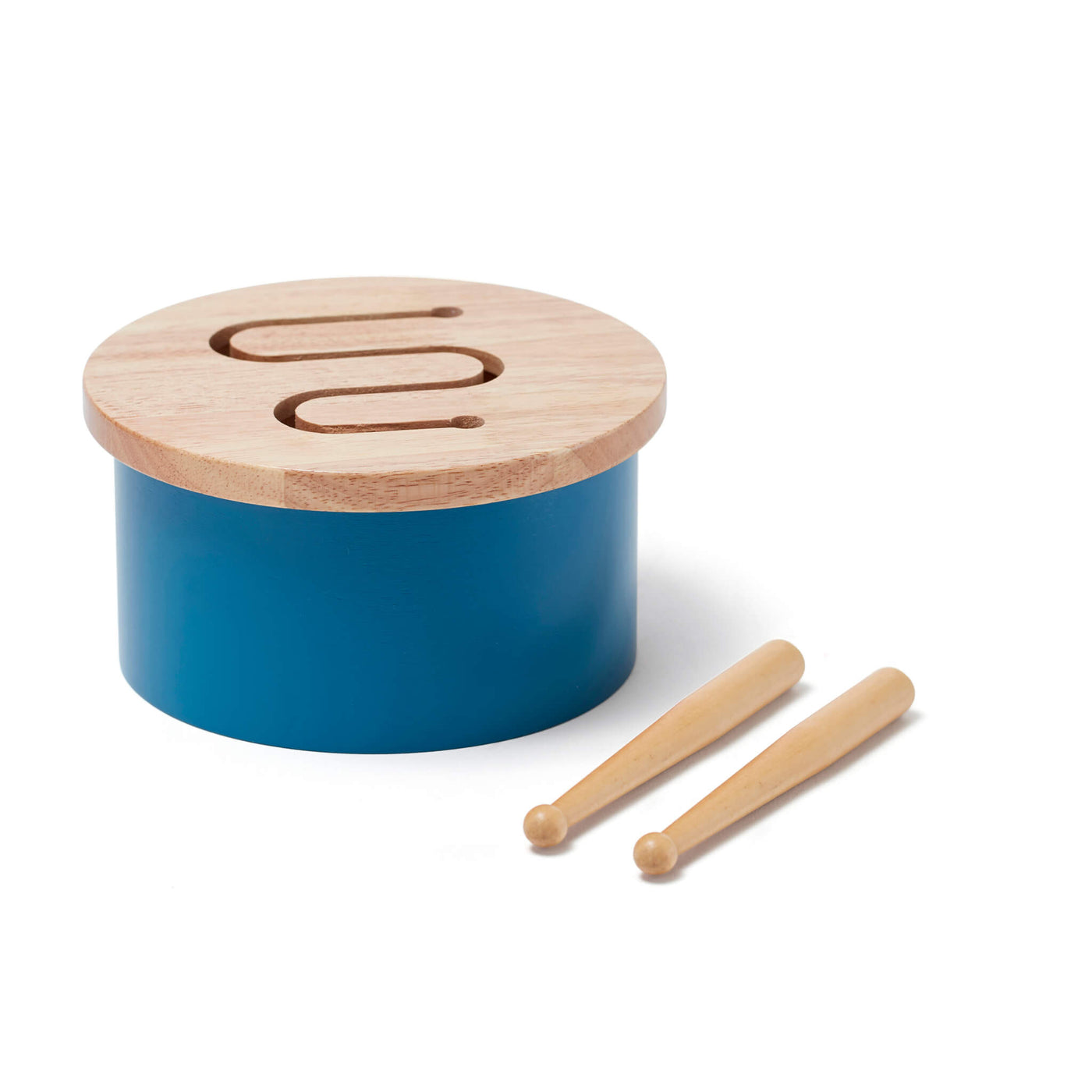 Wooden Drum - Blue