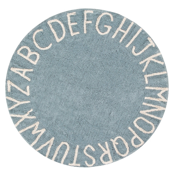 ABC Washable Rug - Vintage Blue