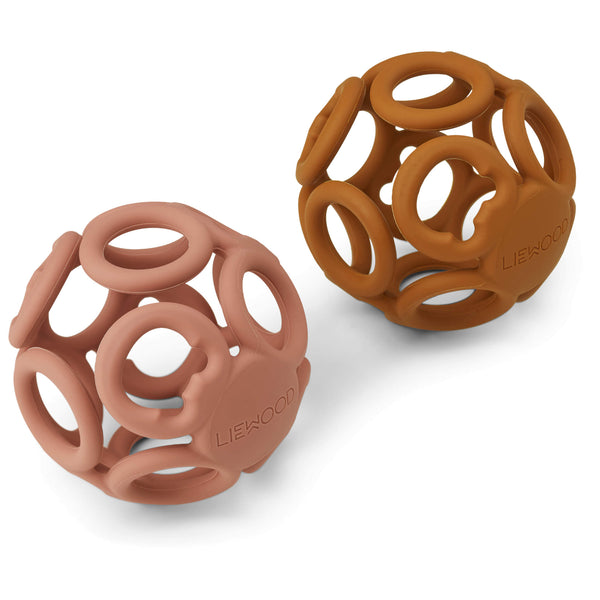 Jasmin Teether Ball - Dark Rose/ Mustard