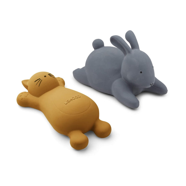 Bath Toys (2 Pack) -  Cat & Rabbit- Mustard