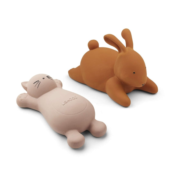 Bath Toys (2 Pack) -  Cat & Rabbit - Rose