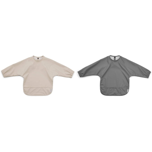 Cape Bib (2 pack) - Grey / Sandy Mix