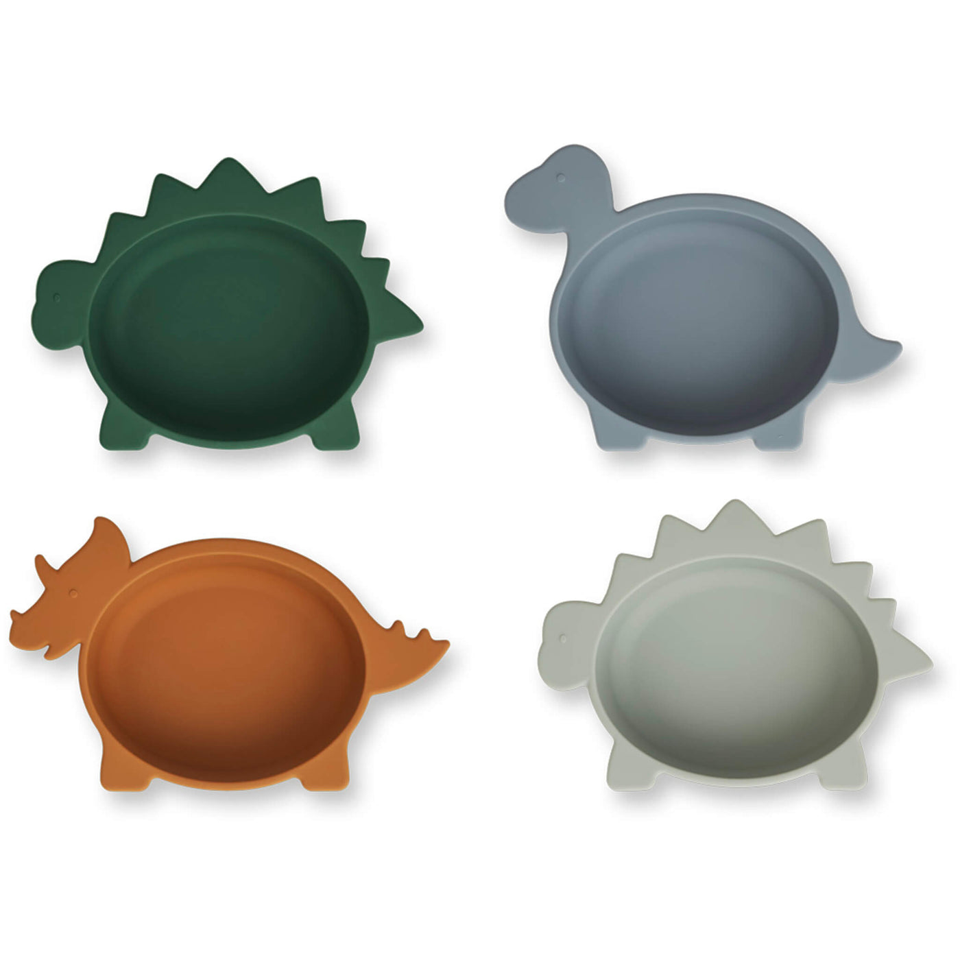 Silicone Bowls - Dino Blue Mix (Pack of 4)