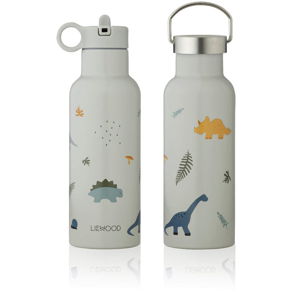 Water Bottle - Dino (Dove Blue)