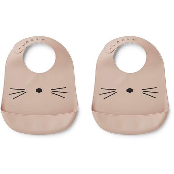 Tilda Silicone Bib (2 pack) - Cat Rose