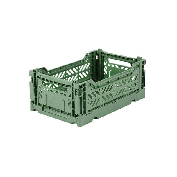 Mini Crate - Almond Green