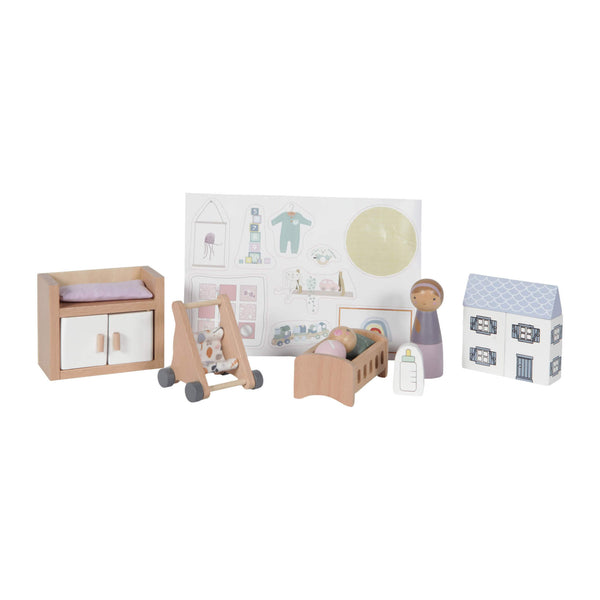 Dolls House Nursery Set