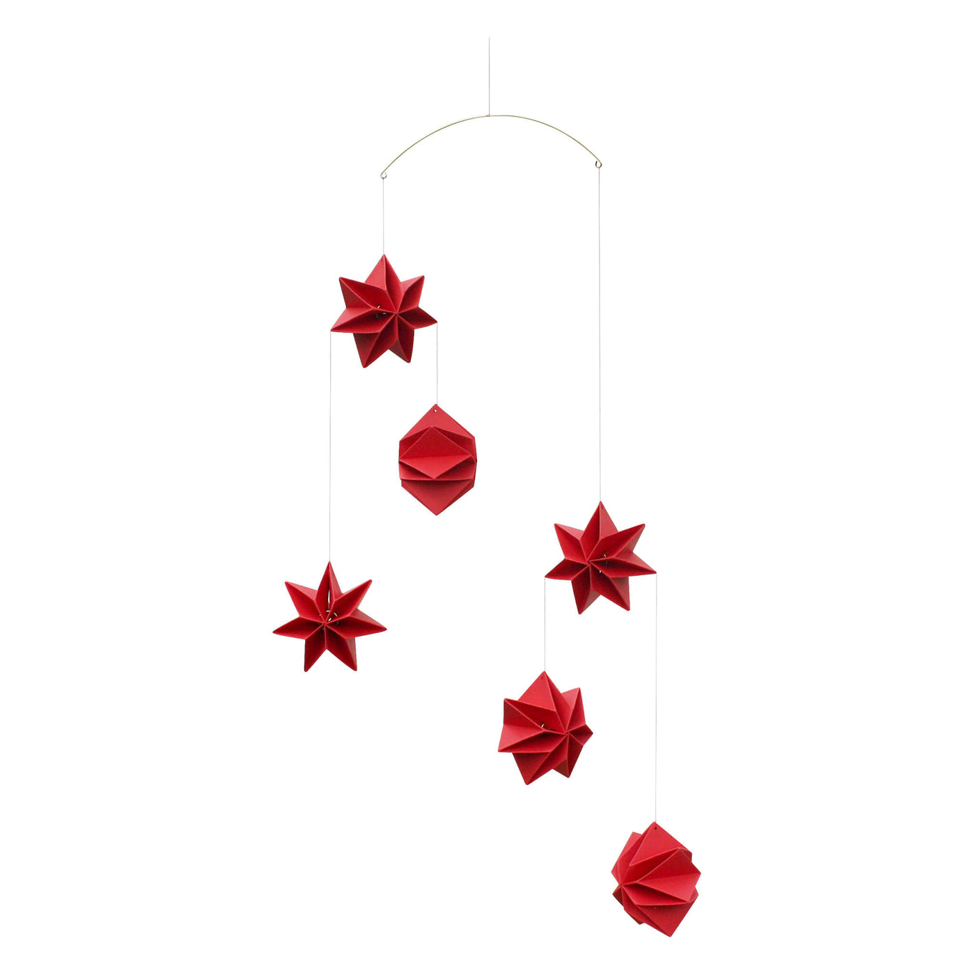 Mouritsen Pleated Star Mobile - Red