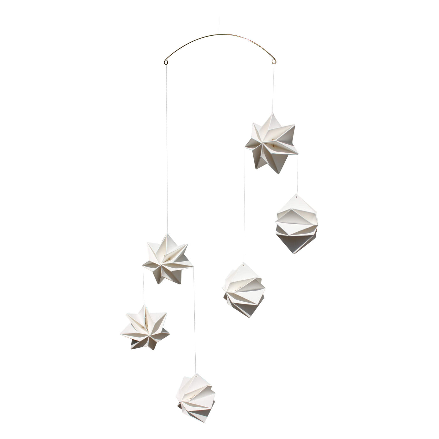 Mouritsen Pleated Star Mobile - White
