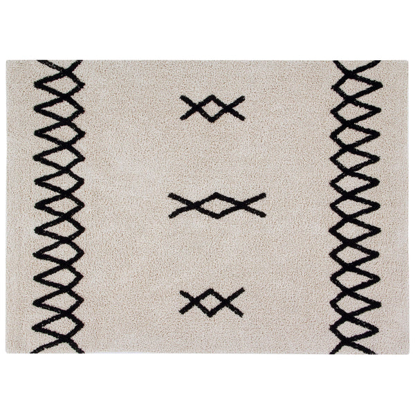 Atlas Washable Rug - Black
