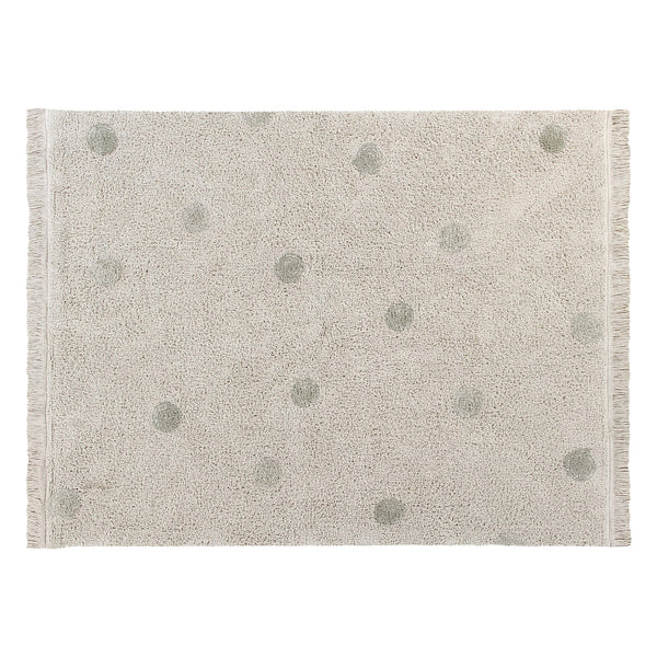 Hippy Dots Washable Rug - Olive