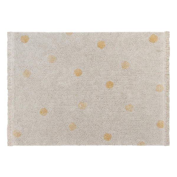 Hippy Dots Washable Rug - Honey