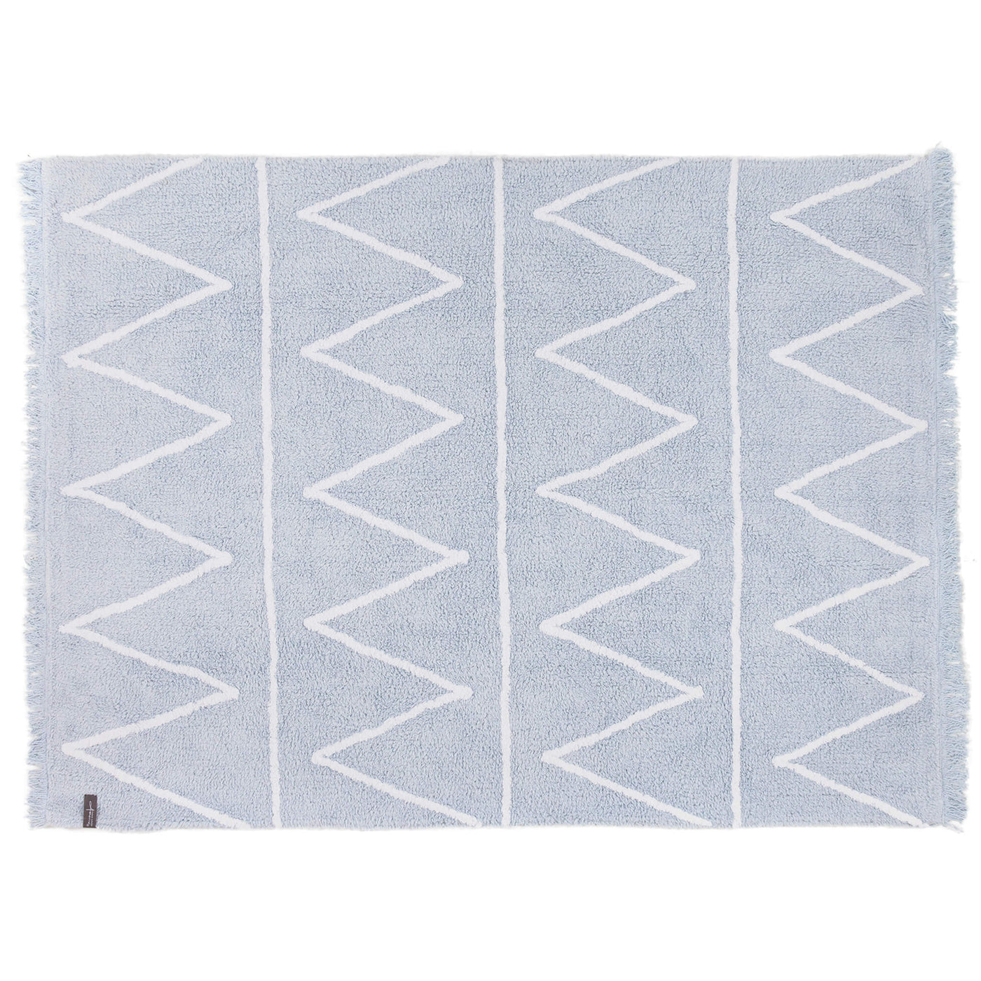 Hippy Washable Rug - Soft Blue