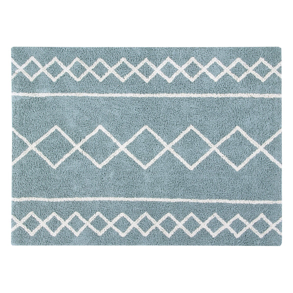 Oasis Washable Rug - Vintage Blue