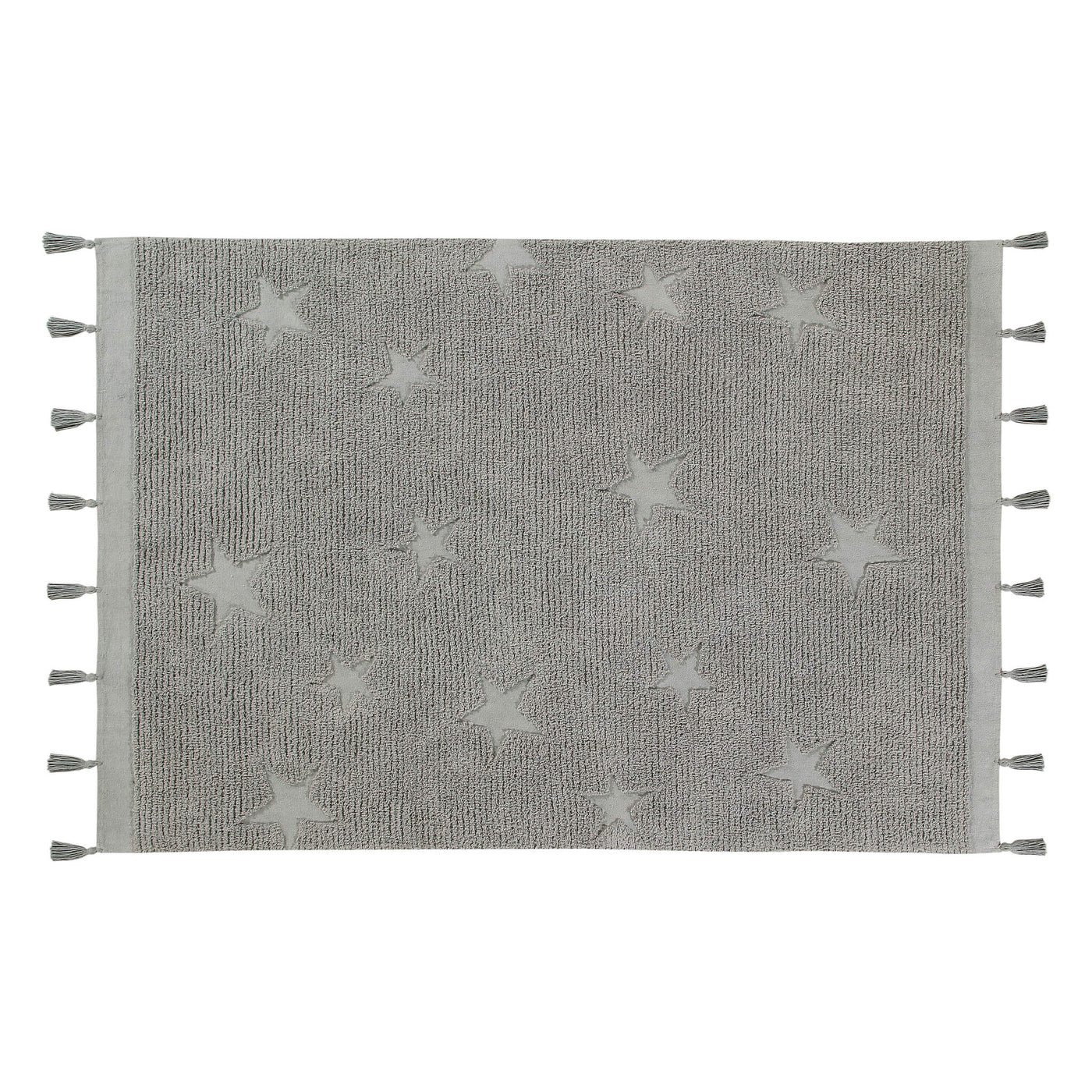 Hippy Stars Washable Rug - Grey